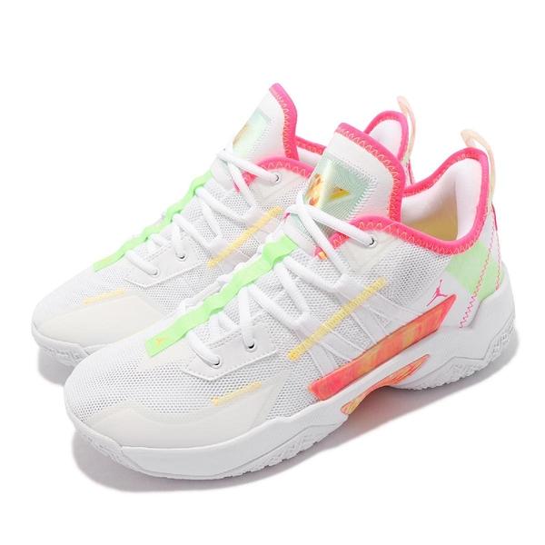Nike Jordan One Take II PF 籃球鞋 白 桃紅 綠 男鞋 忍者龜【ACS】 CW2458-163