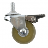 2吋PU耐磨型活煞透明輪3/8吋牙-25KG