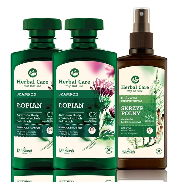 Herbal care 波蘭植萃 - 草本毛鱗護理滋養洗護3入組 (洗髮露/順髮噴霧)