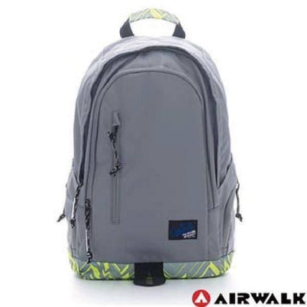 Backbager 背包族【美國 AIRWALK】迷彩底半圓雙層登山後背包/背包/休閒包/登山包_灰色