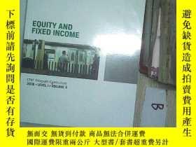 二手書博民逛書店EQUITY罕見AND FIXED INCOME2018 5 權