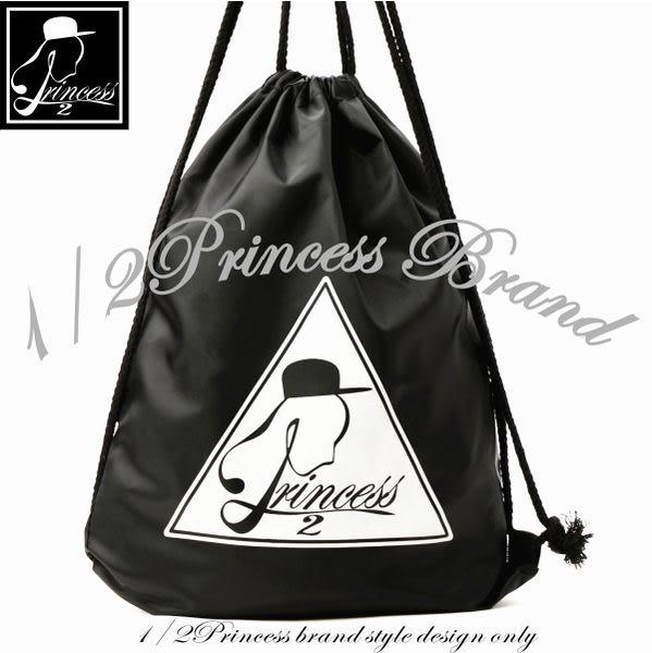 束口包1/2princess第二代品牌標誌防潑水束口袋 後背包[SK12]