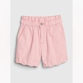 Gap女童甜美風格荷葉邊飾短褲539946-純粉色