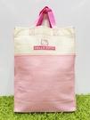 【震撼精品百貨】Hello Kitty 凱蒂貓~日本三麗鷗 kitty 環保購物手提袋/側背袋-粉米#54768