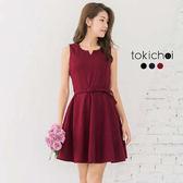 東京著衣-多色優雅美型腰帶洋裝-S.M(172853)