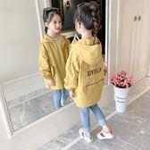 女童外套秋裝2019潮兒童小女孩超洋氣中長款風衣網紅童裝上衣