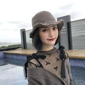 造型帽女韓國保暖漁夫帽盆帽百搭小禮帽
