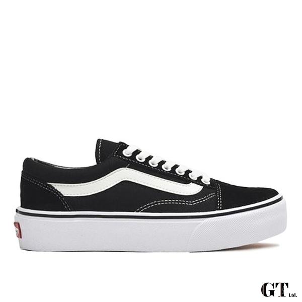 【GT】Vans Old Skool DX Plat 黑白 女鞋 低筒 日版 增高 基本款 運動鞋 休閒鞋 滑板鞋 厚底鞋