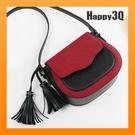 馬鞍包小包包錢蓋式撞色小包包斜背包側背包肩背包流蘇吊飾-灰/棕/黑/紅【AAA3012】預購