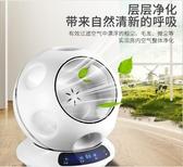 無葉風扇靜音家用落地台式足球款空氣凈化遙控搖頭電風扇110v台灣專業 至簡元素