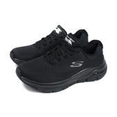 SKECHERS ArchFit 休閒運動鞋 女鞋 黑色 寬楦 149057WBBK no208
