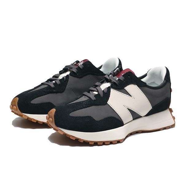 結帳輸入yahoo1212/折扣後3250元 NEW BALANCE 休閒鞋 NB327 復古 黑白 酒紅標 焦糖底 女 (布魯克林) WS327KC