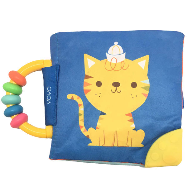 My Soft Rattle & Teether Book:Cat 我的趣味布書:貓咪