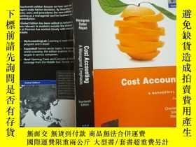 二手書博民逛書店罕見Cost Accounting:A Managerial E
