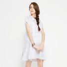 SISJEANS-白色格紋寬鬆洋裝【17195009】