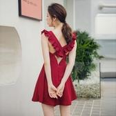 [促銷全場八五折]裙子仙女超仙森系夏季新款日系清新性感高腰顯瘦露背短裙連衣裙女