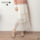 東京著衣-tokichoi-浪漫日系網紗多層次蛋糕裙(191328)