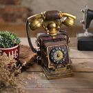 歐式創意裝飾品家居工藝品擺設復古電話機桌...