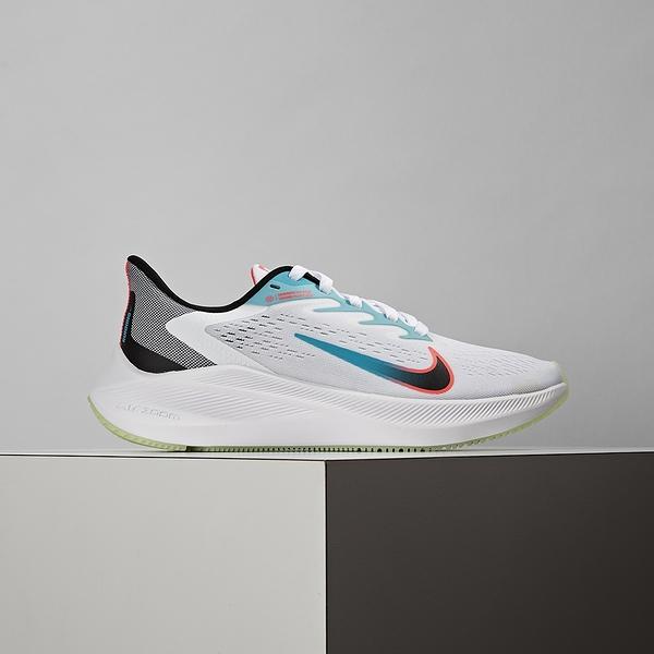 Nike Zoom Winflo 7 女鞋 白 網布 輕量 透氣 氣墊 緩震 慢跑鞋 CJ0302-102