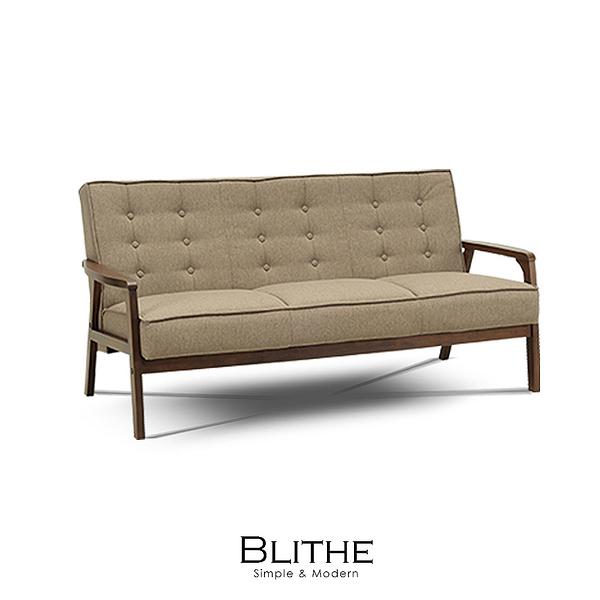 沙發 三人沙發 Blithe焦糖立方布三人沙發(LS/CAD-008-30三人焦糖布沙發)【DD House】時尚家居