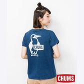 CHUMS 日本 女 Booby LOGO 短袖T恤 Indigo丹寧藍 CH111339N030