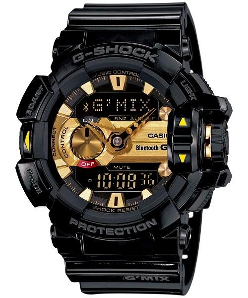 CASIO 卡西歐 G-SHOCK (GBA-400-1A9) 藍牙功能黑金運動錶 防水 手錶/51.9 mm