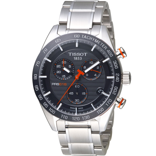 TISSOT PRS 516 賽車元素計時腕錶 T1004171105101