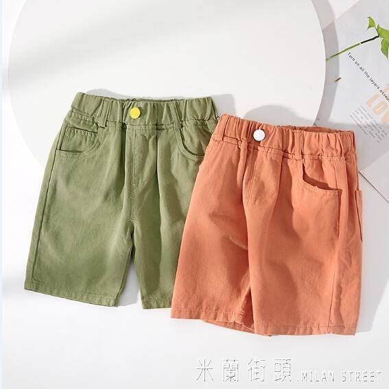 男童褲子夏裝五分褲潮寶寶短褲純棉洋氣小童夏季運動褲兒童休閒褲