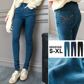 MIUSTAR 後口袋W配色車線長褲(共3色,S-XL)【NE1410EW】預購