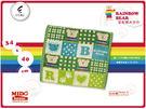 日本原裝進口 彩虹熊大方巾-格子腳印-3色《Midohouse》