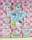 【震撼精品百貨】Hello Kitty 凱蒂貓~KITTY貼紙-小黃鳥崔西Tweety聯名款-藍衣