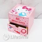 ﹝Kitty45週年掀蓋單抽盒﹞正版 單抽盒 收納盒 置物盒 木櫃 凱蒂貓〖LifeTime一生流行館〗