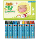 【奇奇文具】雄獅 SIMBALION WNJ-12/WNJ12 巨無霸蠟筆/奶油獅巨無霸蠟筆12色