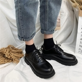 小皮鞋 ins女復古英倫風春季新款學生韓版百搭黑色潮 - 雙十二交換禮物