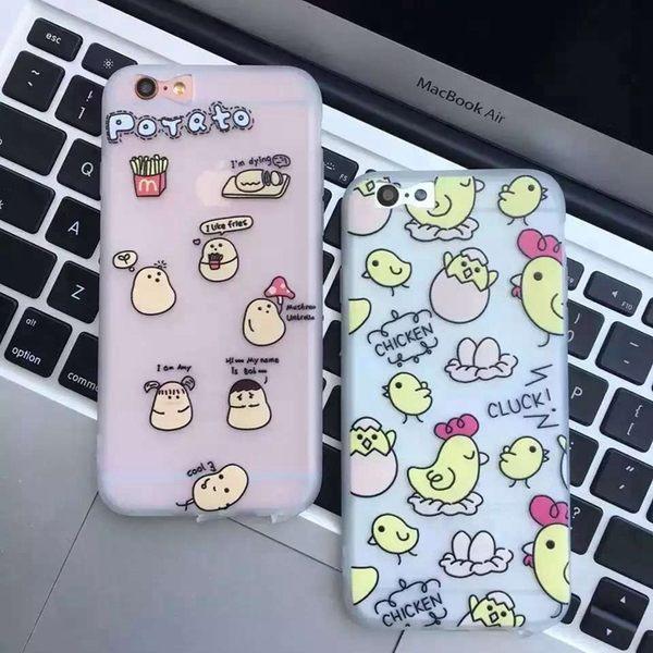 【SZ13】iphone 6 plus手機殼 創意小黃雞雞蛋磨砂軟殼 iphone 6s 手機殼