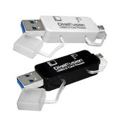 [富廉網] 伽利略 RU055 黑色 USB3.0 Micro USB/USB 雙介面 OTG [良基電腦]