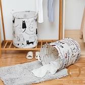 布藝洗衣籃髒衣籃髒衣服收納筐髒衣簍家用玩具收納桶【宅貓醬】
