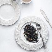 盤子菜盤 家用圓盤創意西餐盤牛排盤粗糲早餐盤子    蜜拉貝爾