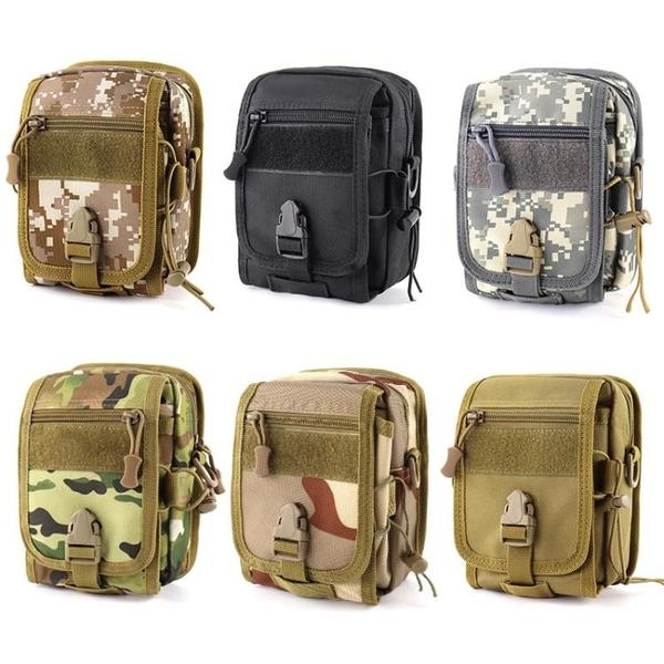 戰術包 男7寸手機腰包多功能穿皮帶手機套戶外運動戰術腰包防水耐磨挎包 宜品