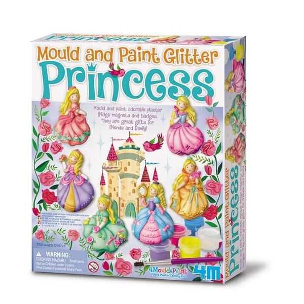 【4M】00-03528 美勞創作DIY 亮麗長髮公主 製作磁鐵 Mould & Paint Glitter Princess