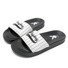 PLAYBOY美式熱情條紋休閒拖鞋-黑白(YT617)