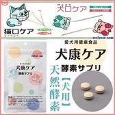 *WANG*【超取/宅配免運組】日本 Mindup 犬用-天然酵素吃酵素120顆