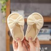 拖鞋女1-3歲2春秋家居幼兒秋季室內亞麻女童防滑軟底小童 海角七號