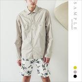 現貨 韓國製 襯衫式外套 胸車線雙口袋【ST20313】- SAMPLE
