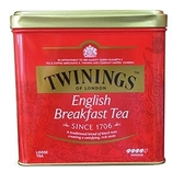 英國《TWINING唐寧》唐寧紅茶-英倫早餐茶 罐裝茶葉500g/罐