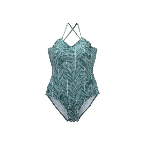 【R】現貨- 韓 性感 綁帶 露背 復古 波浪 斜紋 連身 泳衣 吊帶 溫泉 泳裝 比基尼