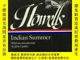 二手書博民逛書店威廉·迪安·豪威爾斯:印度之夏罕見Indian Summer b