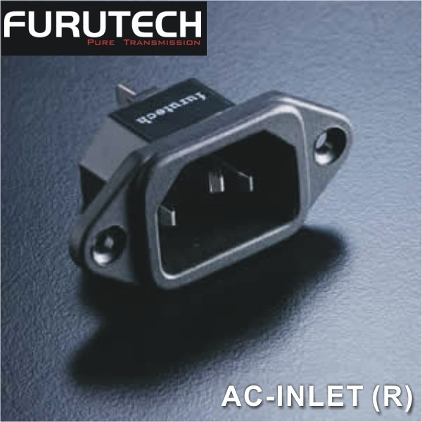 【新竹勝豐群音響】Furutech 古河 AC-INLET (R) 鍍銠 焊接式 AC電源座 /入口/尾座