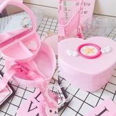 《花花創意会社》少女心愛心造型PVC飾品收納盒【H6418】