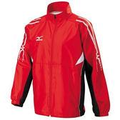 Mizuno 男裝 外套 立領 平織 網布內裡 防潑水 拉鍊口袋 紅 【運動世界】 32TC658662